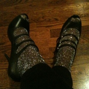 Luxetips Style! Micheal Jackson Chic: Glitter socks and Mary Jane Pumps