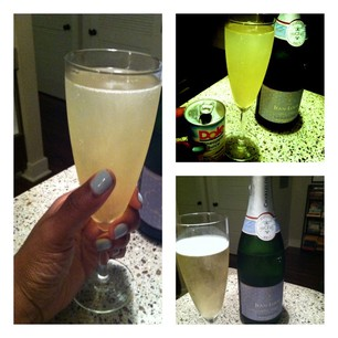 Nails and Cocktails™: Essie's Who's The Boss and Jean-Louis Charles De Fere Champagne Cocktail: Pineapple Mimosas