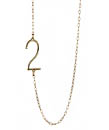 You Are Just A Number: Albeit Jewelery Numbered Pendant Necklace at Max and Chloe