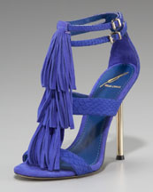 Luxetips Style! B Brian Atwood Fringe T-Strap Sandal