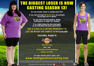The Biggest Loser Casting Call in Atlanta!