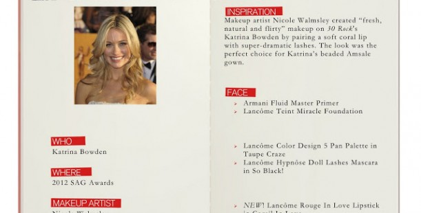 SAG Awards! Katrina Bowden's look from Lancôme!