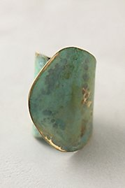 Aged Leaf Ring at Anthropologie