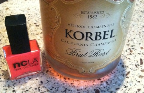 Nails and Cocktails™ NCLA Nails Color and Korbel Brut Rose Champagne
