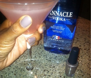 Nails and Cocktails TM: NYC Nails Park Avenue and Pinnacle Vodka Pink Poodle Martini