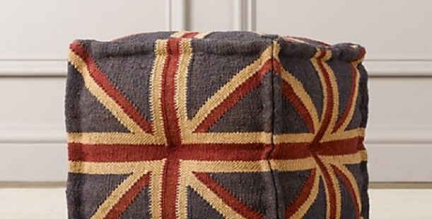 Luxetips Kids! Baby and Child union Jack Ottoman at TJMaxx