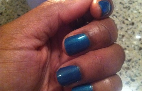 Nails and Cocktails TM: NYC Nails Empire State Blue and Pinnacle Vodka Gimlet