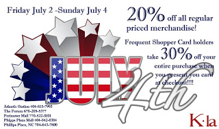 Fun Fridays: K-La Boutique Fourth of July Sale