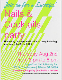 Luxetips Events: Nails and Cocktails™ Party at Sugar Coat BeautyVirginia Highlands