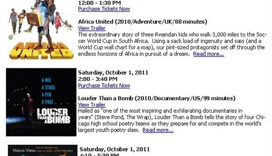 Luxetips Events! National Black Arts Festival Fall Film Fesitval