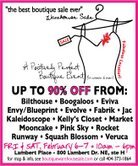 Boutique Warehouse Sale!!