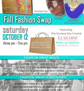 Luxetips Events! Bernetta Styles Fashion Swap and Smokey Eye Tutorials This Saturday in Smyrna, GA