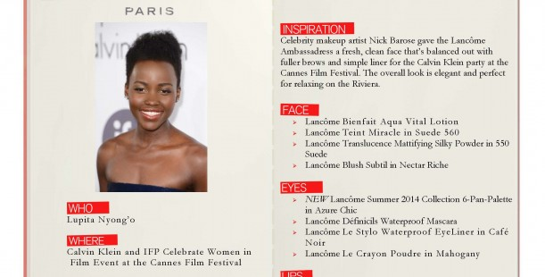 Luxetips Beauty! Get Lancôme Ambassadress Lupita Nyong'o's Gorgeous Look
