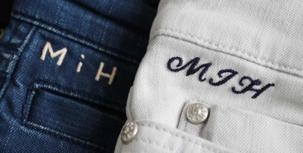 Luxetips Style! MIH Jeans Bespoke Hand Monogramming Service: So Luxe