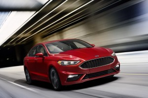 2017-Ford-Fusion-Sport-front-three-quarters-in-motion