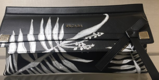 Luxetips Style! Escada Handpainted Clutch! Luxe and Unique